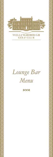 Lounge Bar Menu